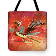 The Empress - Flight Of Phoenix - Red Version Tote Bag by Bedros Awak