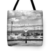 The End Bw Tote Bag