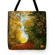The End Of The Road. Tote Bag