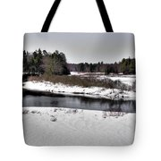 The End Of Winter On The Moose River Tote Bag