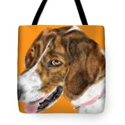 The English Pointer Foxhound Tote Bag