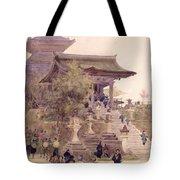 The Entrance To The Temple Of Kiyomizu Dera Kyoto Tote Bag