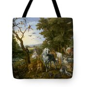 The Entry Of The Animals Into Noahs Ark Tote Bag