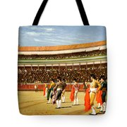 The Entry Of The Bull Tote Bag