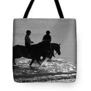 The Equestrians-silhouette V2 Tote Bag