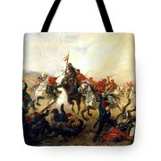 The Event At The Village Telishe Tote Bag by Victor Mazurovsky
