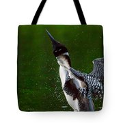 The Ever Elusive Loon Coming Out Of Dive Tote Bag