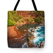 The Exotic And Stunning Red Sand Beach On Maui Tote Bag