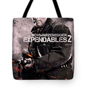 The Expendables 2 Schwarzenegger Tote Bag