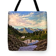 The Eyes Of The Mountain. Tote Bag