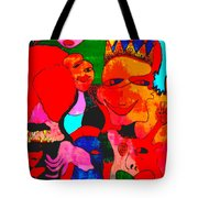 The Eyes Upon Us Painted Tote Bag