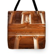 The Facade Of Al Khazneh In Petra Jordan Tote Bag by Robert Preston
