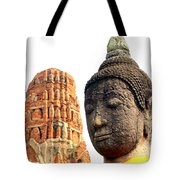 The Face Of A Buddha Tote Bag