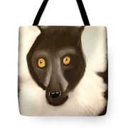 The Face Of A Lemur Tote Bag