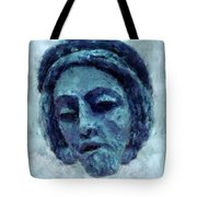 The Face Of Blue Tote Bag
