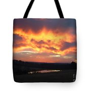 The Sunrise Face In The Clouds Tote Bag