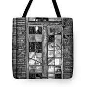 The Factory Window Bw Tote Bag