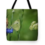 The Faerie And The Cabbage Butterfly Tote Bag