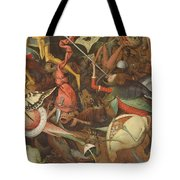 The Fall Of The Rebel Angels, 1562 Oil On Panel Detail Of 74037 Tote Bag