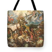 The Fall Of The Rebel Angels, 1562 Oil On Panel Tote Bag