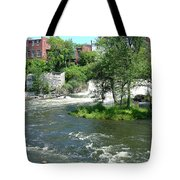 The Falls In Middlebury Tote Bag