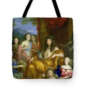 The Family Of Louis Xiv 1638-1715 1670 Oil On Canvas Detail Of 60094 Tote Bag