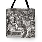 The Feast, After A 17th Century Engraving By N. De Bruyn.  From Illustrierte Sittengeschichte Vom Tote Bag