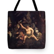 The Feast Of Bacchus, 1654 Tote Bag