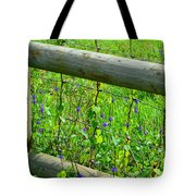 The Fence At The Meadow Tote Bag