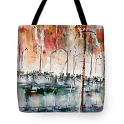 The Ferry Arrives At Galata Port - Istanbul Tote Bag