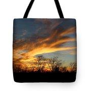 The Fiery Sky Tote Bag