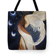 The Final Eclipse Before The Millenium Hand Embroidery  Tote Bag