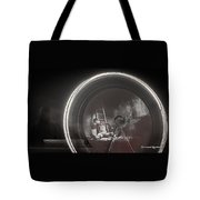 The Fire Wheel Ghost Man Tote Bag