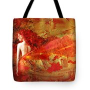 The Fire Within Tote Bag by Jacky Gerritsen
