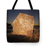 The First Ice ... Tote Bag