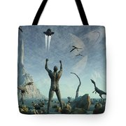 The First Man, Adam, Greets The Return Tote Bag