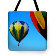 The First One Up  Tote Bag by Jeff Swan