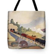 The First Paris To Rouen Railway, Copy Tote Bag by French School