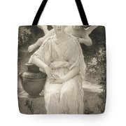 The First Whisper Of Love After Bouguereau Tote Bag