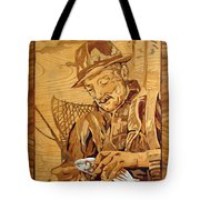 The Fisherman With The Fish Tote Bag