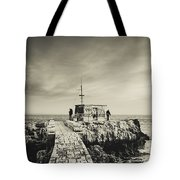 The Fishermen's Hut Tote Bag by Marco Oliveira