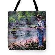 The Fishing Boy Tote Bag