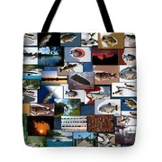 The Fishing Hole Collage Rectangle Tote Bag