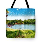 The Fishing Hole Tote Bag