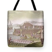 The Fishing Industry In Newfoundland Tote Bag by G Bramati