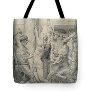 The Flagellation Of Christ Tote Bag by William Adolphe Bouguereau