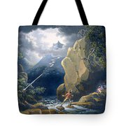The Flash Of Lightening Caught Tote Bag
