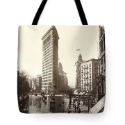 The Flatiron Building In Ny Tote Bag
