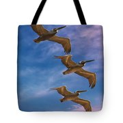 The Flight Of The Pelican Tote Bag
