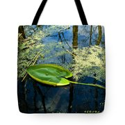The Floating Leaf Of A Water Lily Tote Bag